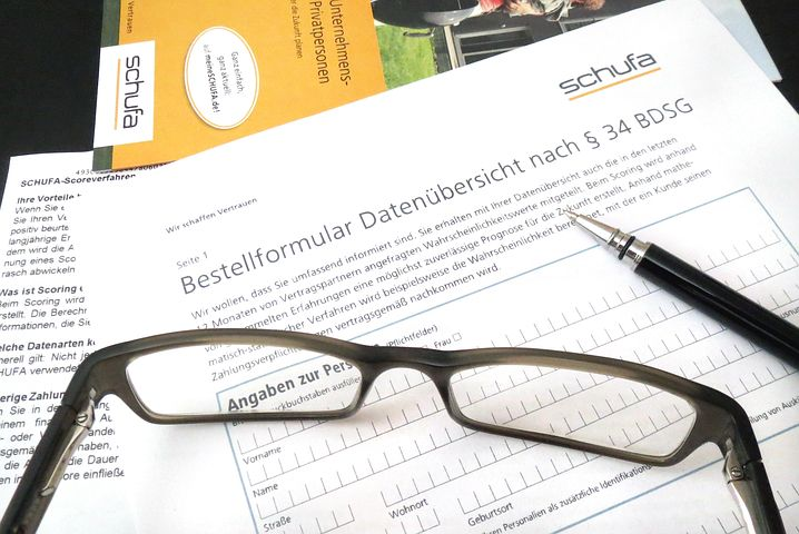 Schufa Bestellformular