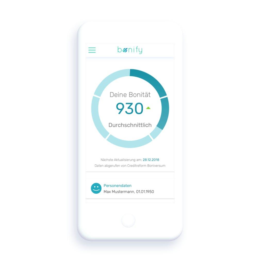 Bonitätsprüfung in der bonify App
