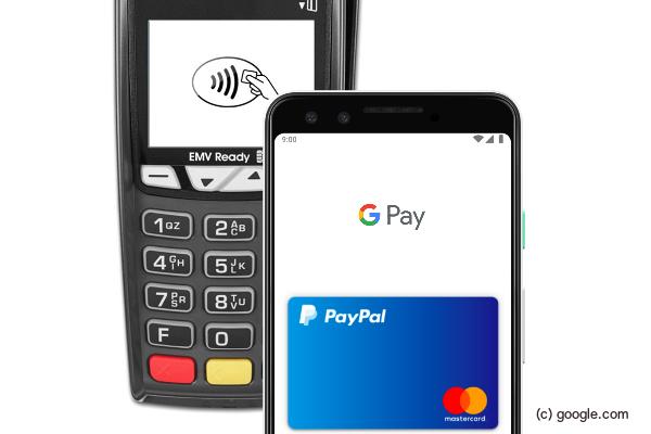 Per Paypal und Google Pay bezahlen