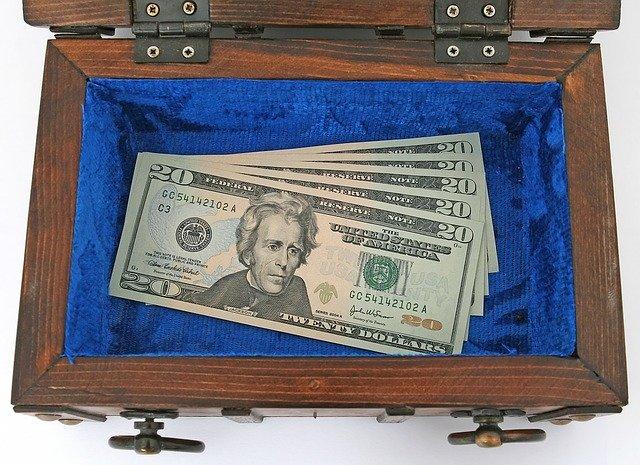 Bankfach Geld